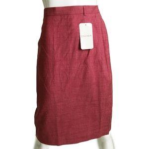 NWT Escada Silk Linen Blend Pencil Skirt 40 $460